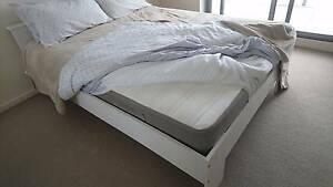 White Double Bed + mattress protection (urgent sale) Turner North Canberra Preview