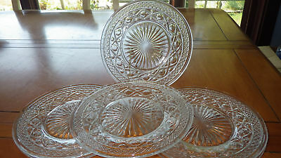 "Cape Cod Clear Salad Plates by Imperial Glass 6 8"" diameter vintage 1932 plates"