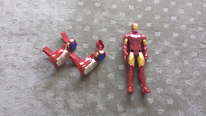 Iron Man toy + arm bands Redwood Park Tea Tree Gully Area Preview