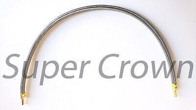 High Pressure Flexible Stainless Mesh Wrap Lube Hose Bijur 532 X 19.69 Ssa