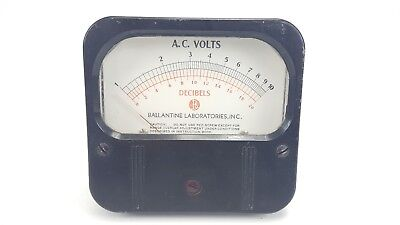 Vintage Weston 861 Decibels Ac Volts 1-10 0-20 Ballantine Panel Mount Meter 4