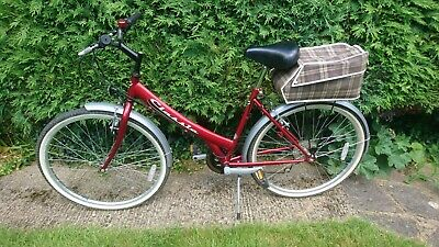 CLASSIC red Ladies girls bicycle city shopping bike 18 frame and 26 wheels vgc