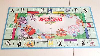 Monopoly Junior Replacement Game Board Only EUC Hasbro -