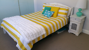 Queen sized wooden frame bed Coomera Gold Coast North Preview