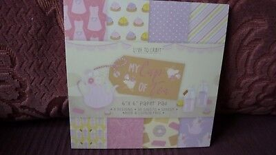 "Patterned Paper Pad- 6 x 6""- My Cup of Tea from Love to Craft- New & Sealed"
