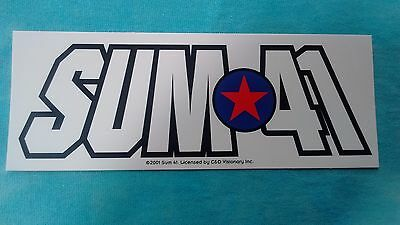 Sum 41 Red Star Logo 6 Inch Sticker