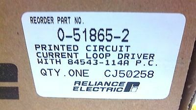 Reliance Electric Current Loop Driver 0-51865-2 New 0518652
