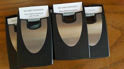 25  Business Name Card Holder Case Black Rolling Sliding