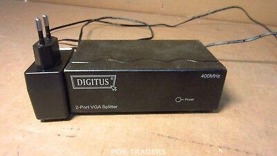 Digitus DC-41110 VGA Splitter 500 MHz, 2-PORT - 2048x1536 / 60Hz  - INCL PSU