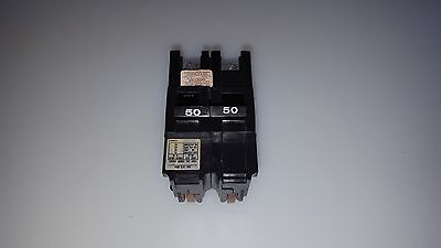 Fpe Federal Pacific Na250 Stab Lok 50 Amp 2 Pole 50A 2P Circuit Breaker Thick