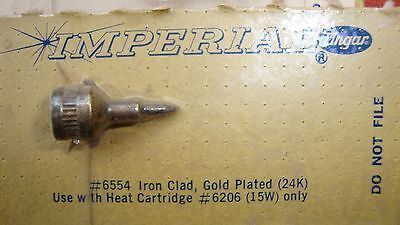 Imperial Ungar 6554 Iron Clad 24kt. Gold Plated Solder Tip For 6206 Element