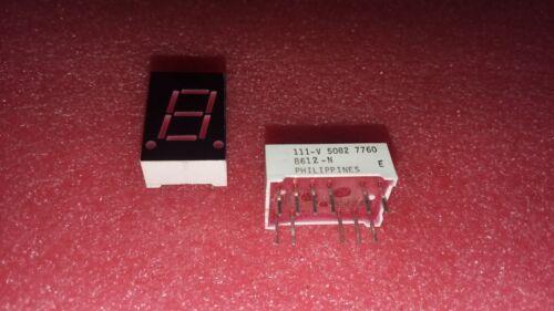 1X NATIONAL SEMI 5082-7760 RED COMMON CATHODE 7 SEGMENT LCD DISPLAY