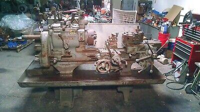 Warner Swasey 3 Turret Lathe 7.5 Hp Production Type Metalworking Lathe M-1200