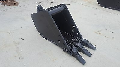 New 12 Tag Coupler Style Excavator Bucket Fits 6-9k Machines - 1.25 Pin