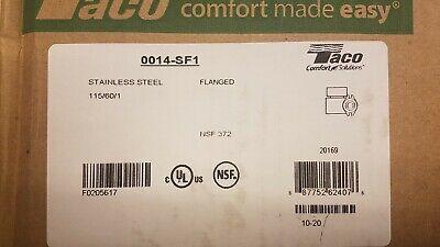 Taco 0014-sf1 Hot Water Circulator Pumpss18 Hp