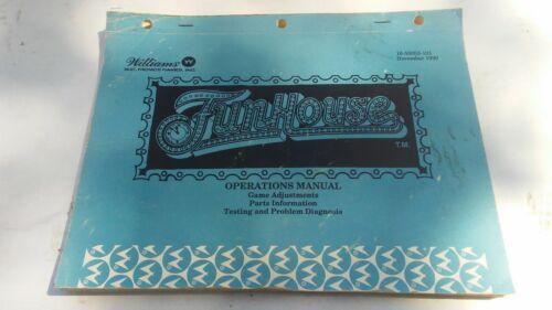 FUNHOUSE-Williams W/SCHEMATICS-Orig. Manual-L@@K!