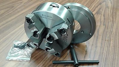 6 4-jaw Self-centering Lathe Chuck W. Top Bottom Jaws W. D1-4 Adapter-new