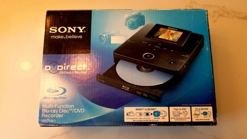 Sony VBD-MA1 Multi Function Blu-ray Disc DVD Recorder Open Box Great Price!