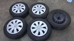 1 set of 5 Toyota Yaris Tyres with Rims Pallara Brisbane South West Preview
