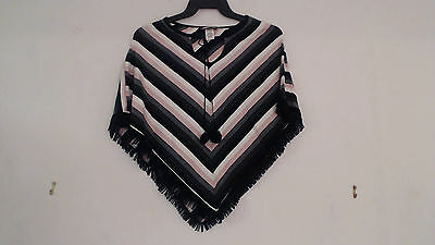 New Zoey   Beth Girls Acrylic Poncho Sweater Cover Up One Size Xs S M L Xl