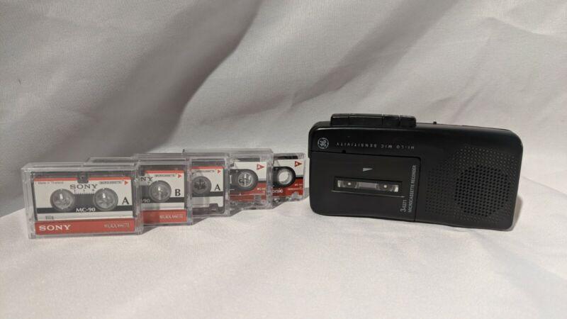 GE 3-5371 Micro Cassette Recorder
