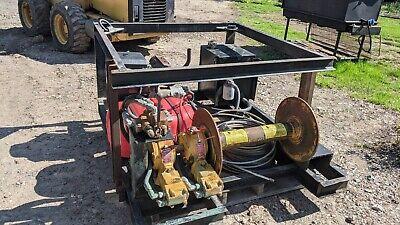 Hydraulic Power Pack Unit With Bloom Hydraulic Winch 25hp Kohler