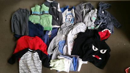 Size 2 boys winter top bundle