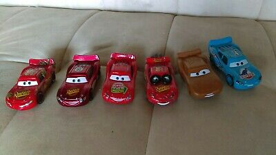 Disney Pixar Cars Diecast Lot Rare Lightning McQueen Spin Out Smell Swell Cactus