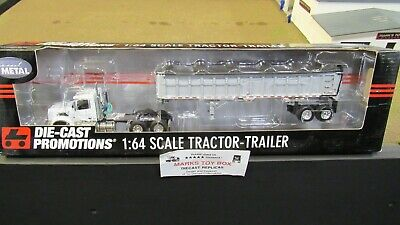 DCP#31770 MTB WHITE VOLVO VT800 SEMI DAY CAB TRUCK EAST END DUMP TRAILER 1:64/ for sale  Shipping to Canada