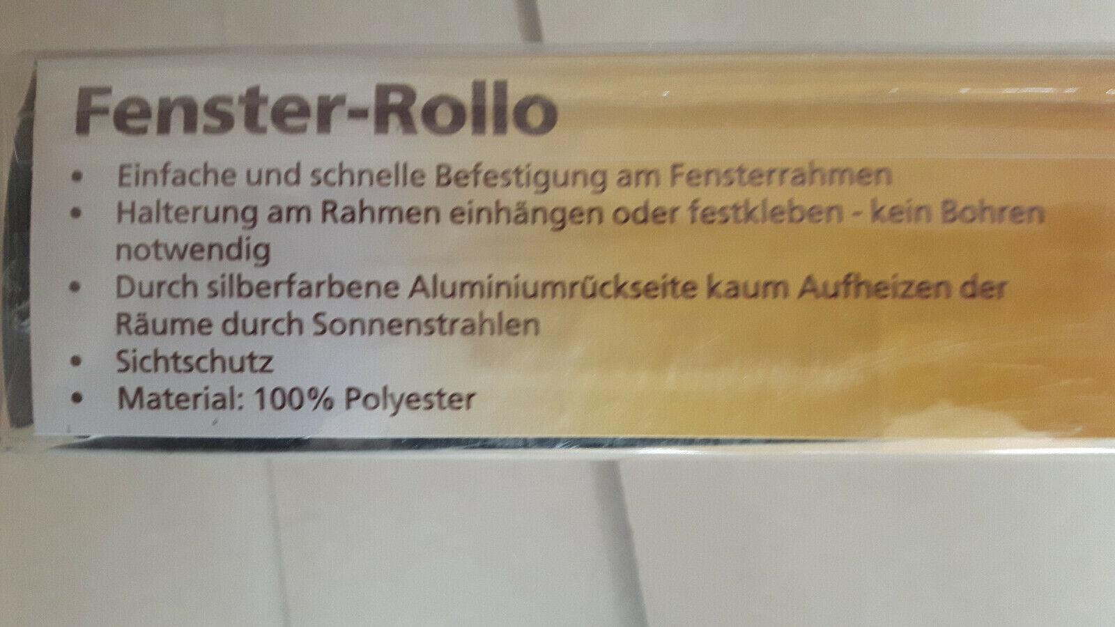 Fenster-Rollo , Thermo, ohne Bohren, innen ,Beige-grau ,noch verpackt