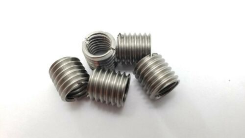 5 x THREAD ADAPTERS - M10 10MM MALE TO M8 8MM FEMALE - THREADED REDUCERS