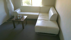 Beautiful genuine leather , off white corner couch/sofa RRP $4900 Craigie Joondalup Area Preview
