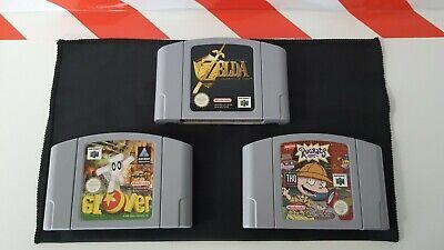 Nintendo N64 The Legend Of Zelda Ocarina Of Time & Glover & Rugrats 3 Spiele