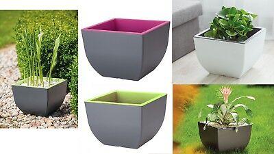 Large Flower Pot Modern Square Design Strong Plastic Home Garden many sizes