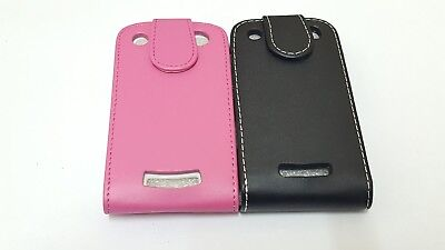 NEW BLACK PINK GENUINE PU LEATHER FLIP CASE COVER FOR BLACKBERRY CURVE  BB 9360 Pink Case Blackberry Curve