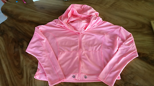 Lorna Jane fluoro pink hooded lightweight jacket size Small Palmwoods Maroochydore Area Preview