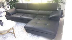 Nick Scali 2 Seater+Chaise  Leather Lounge Modular Sofa   RRP $6000 Revesby Heights Bankstown Area Preview