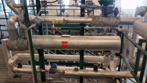 Api Basco Shell & Tube Heat Exchanger, 316 Stainless Steel, 55 Ft²