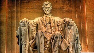 Plaque métal Abraham Lincoln 30 X 20 CM