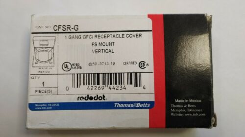 RED DOT CFSR-G GFCI RECEPTICLE COVER NEW