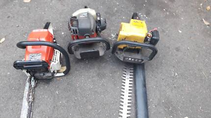 YELOW COLURE EDGER FULL UNIT AND JUST NEED FUEL LINE,, CHAIN SAW