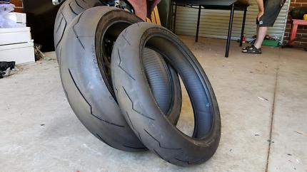 Almost Brand New Pirelli Supercorsa Motorcycle Tyres