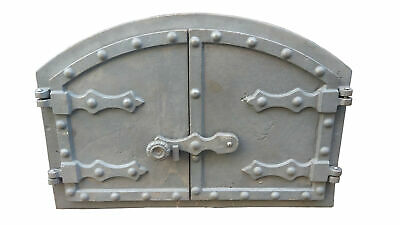 Cast Iron Fire Foor Clay Bread Oven Door BBQ GRILL Stove 13.81x20.67inch