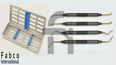 4pcs Sinus Elevators Graft Lift Instrument Implant Dental Mushroom With Cassette