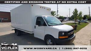 2013 Chevrolet Express 3500 16Ft V8 Gas + Tow Pkg - Only 47,000k