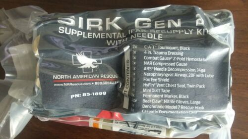 NAR SIRK Gen II IFAK supply kit Two Gen 7 CAT tourniquets and QuikClot Gauze