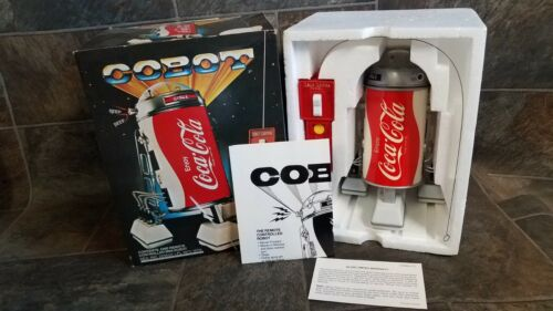 Vintage Coca-Cola Cobot  Remote Control Can Robot In Original Box. New Old Stock