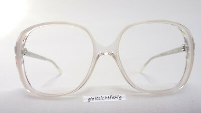 Damenfassung Silhouette Vintagemode große Gläser transparent-weiß elegant Gr. M