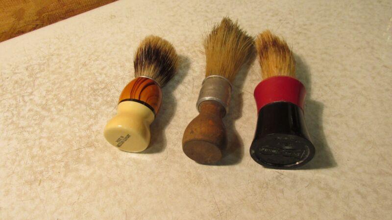 3 Old Shaving Brushes