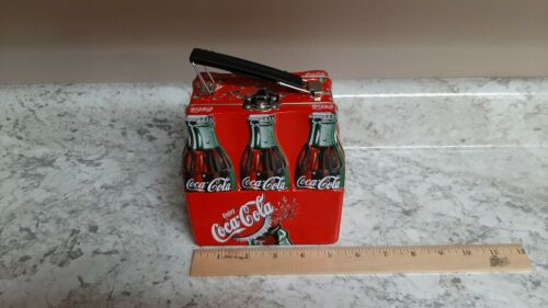 Coke Bottle Coca Cola Metal Tin Mini Lunch Box Pail Container with Handle NEW